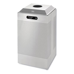 Rubbermaid Silver Recycling Bin, 29 Gallon