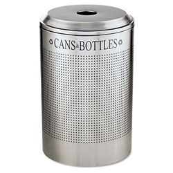 Rubbermaid Silver Recycling Bin, 26 Gallon