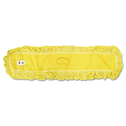 "Rubbermaid Trapper Commercial Dust Mop, Looped-end Launderable, 5"" x 18"", Yellow"