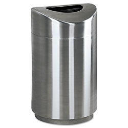 Rubbermaid Round Metal Indoor Trash Can, 30 GAL, Stainless Steel