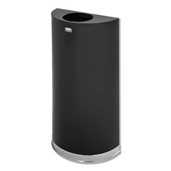 Rubbermaid Round Metal Outdoor Trash Can, 12 Gallon, Black