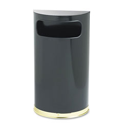 Rubbermaid Round Metal Indoor Trash Can, 9 Gallon, Black