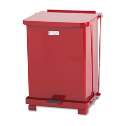 Rubbermaid Biohazard Step-On Steel Indoor Trash Can, 7 Gallon, Red