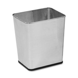 Rubbermaid Metal Desk Wastebasket, 7.25 Gallon, Stainless Steel