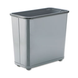 Rubbermaid Gray Steel Fireproof Trash Can, 7.5 Gallon, Rectangle