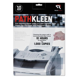 Read Right/Advantus PathKleen Printer Roller Cleaner Sheets, Pack of 10