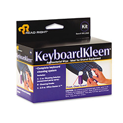 Read Right/Advantus KeyboardKleen Kit, Swabs and Gas Duster
