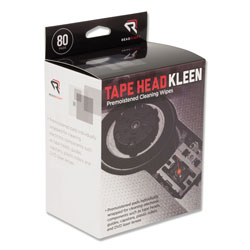 Read Right/Advantus Tape Head Kleen Pad, Individually Sealed Pads, 80/Box