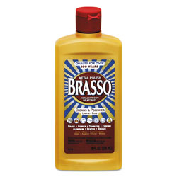 Brasso® Metal Polish, Unscented, 8oz Bottle