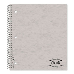 National Brand Subject Wirebound Notebook, College/Margin Rule, 11 x 8 7/8, White, 80 Sheets