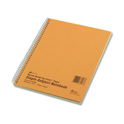National Brand Subject Wirebound Notebook, Narrow/Margin Rule, 10 x 8, Green, 80 Sheets