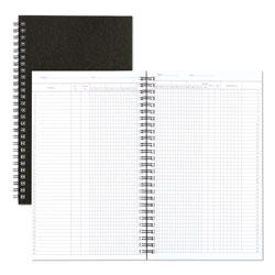 National Brand Class Record Book, 6-Day/6-Week Format, 9-1/2 x 5-3/4, Black, 120 Pages