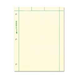 "Rediform Computation Pads, 5"" x 5"" Quad, 8 1/2"" x 11"" 200 Sheets, Green"