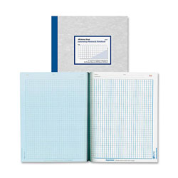 "Rediform Lab Notebook, 4x4 Quad, 200 Sheets, 8 1/2""x11"", Gray"