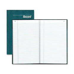 "Rediform Record Book, Record Ruled, 300 Pages, 12 1/4""x7 1/4"", Blue"
