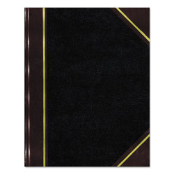 National Brand Texthide Record Book, Black/Burgundy, 300 Green Pages, 10 3/8 x 8 3/8