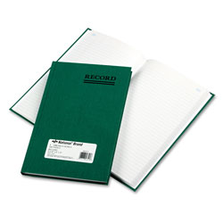 National Brand Emerald Series Account Book, Green Cover, 200 Pages, 9 5/8 x 6 1/4