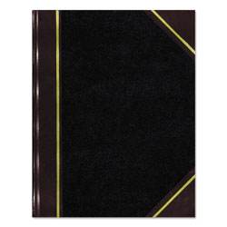 National Brand Texthide Record Book, Black/Burgundy, 300 Green Pages, 14 1/4 x 8 3/4