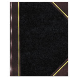 Rediform Texthide Notebook, Black/Burgundy, 500 Pages, 14 1/4 x 8 3/4