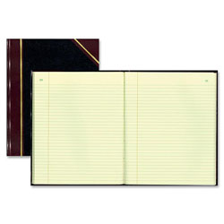 Rediform Texhide Record Ruled Book, 14 1/4 x 11 1/4, Eye Ease GN, 300 Sheets