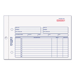 Rediform Invoice Book, 5 1/2 x 7 7/8, Carbonless Duplicate, 50 Sets/Book