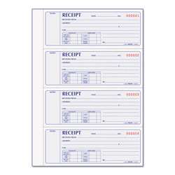 Rediform Receipt Book, 7 x 2 3/4, Carbonless Duplicate, 400 Sets/Book