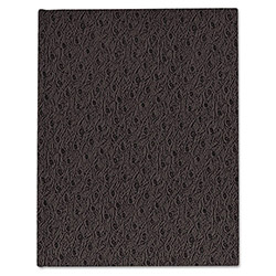 Blueline Ostrich Exec Business Notebook, 7 1/4 x 9 1/4, 75 Sheets, College Ruled, Black