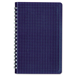 Blueline Poly Cover Notebook, 9 3/8 x 6, Ruled, Twin Wire Binding, Blue Cover, 80 Sheets