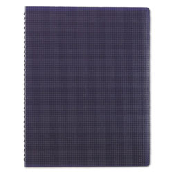 Blueline Poly Cover Notebook, 11 x 8 1/2, Ruled, Twin Wire Binding, Blue Cover, 80 Sheets