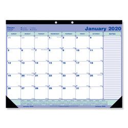 Rediform Desk Pad Calendar, 21 1/4 x 16, Blue/White/Green, 2018