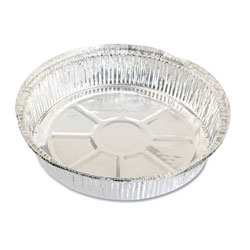 "Reynolds RC477 9"" Round Aluminum Take-out Containers"