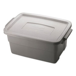 Rubbermaid Roughneck Storage Box, 10 3/8 x 15 7/8 x 7, 3 Gallon, Steel Gray