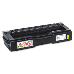 Ricoh 406478 High-Yield Toner, 6000 Page-Yield, Yellow