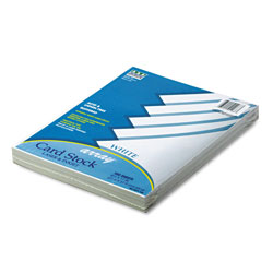 Riverside Paper 65 lb. Card Stock, 8 1/2 x 11, White, 100 Sheets/Pack