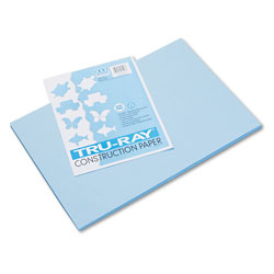 Riverside Paper Recycled Construction Paper, 12 x 18, Sky Blue, 50 Sheets/Pack