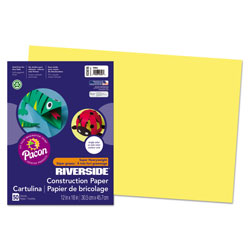 Riverside Paper Construction Paper, Yellow, 12 x 18, 50 Sheet Pack