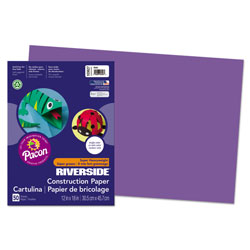 Riverside Paper Construction Paper, 12 x 18, Violet, 50 Sheet Pack