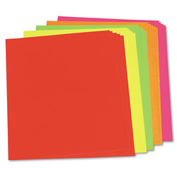Riverside Paper Assorted Neon Color Poster Board, 22 x 28, 25 Boards/Carton