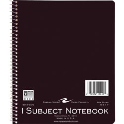 "Roaring Spring Paper One Subject Notebook, Wirebound, 8 1/2""x7"", Brite Covers"