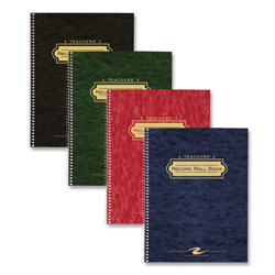 "Roaring Spring Paper Class Roll Book, 11""x8-1/2"", Wirebound, Manila Double Pocket"