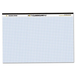 Roaring Spring Paper Landscape Format Writing Pad, Quad Ruled, 11 x 9-1/2, White, 40 Sheets/Pad