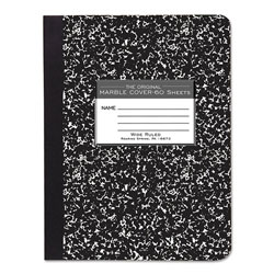 Roaring Spring Paper Marble Cover Composition Book, Wide Rule, 9-3/4 x 7-1/2, 60 Pages