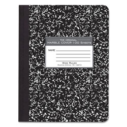 Roaring Spring Paper Marble Cover Wide Rule Composition Book, 9-3/4 x 7-1/2, 100 Pages