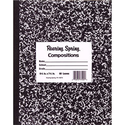 Roaring Spring Paper Marble Cover Composition Book, Wide Rule, 10 x 8, 60 Pages
