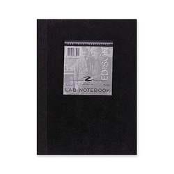 "Roaring Spring Paper Lab Notebook, Quad Ruled, 5""x5"", 60 Sheets, Tape Bound"