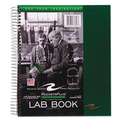 Roaring Spring Paper Wirebound Lab Notebook, Quadrille Rule, Assorted Covers, 11 x 9, 100 Sheets/Pad