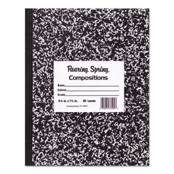 Roaring Spring Paper Marble Cover Composition Book, Wide Rule, 9-3/4 x 7-1/2, 50 Pages