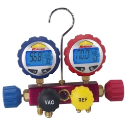 Robinair 4-way Refrigerant Manifold with Digital Gauges
