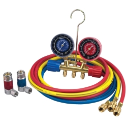 "Robinair A/C R-134A Manifold Gauge Set with 72"" Hose and Couplers"