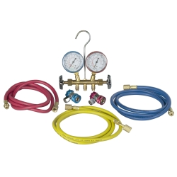Robinair R134 Brass Manifold and Hose Set
